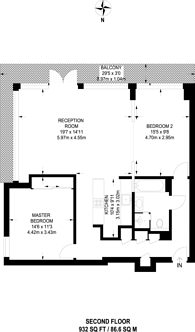Large floorplan for Victoria Mills Studios, Stratford, E15