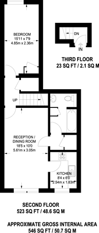 Large floorplan for Rampayne Street, Pimlico, SW1V