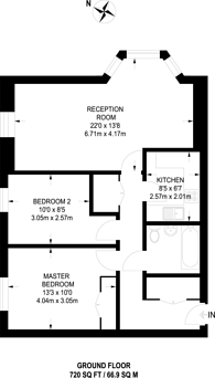 Large floorplan for Boddington Gardens, Acton, W3