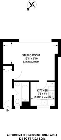 Large floorplan for Wooten Street, Southwark, SE1