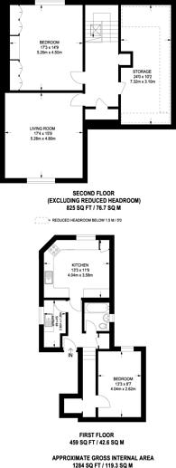 Large floorplan for Willesden Lane, Willesden Green, NW2