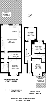 Large floorplan for Colney Hatch Lane, Muswell Hill, N10