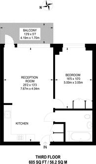Large floorplan for Maritime Building, Royal Docks, E16