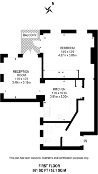 Large floorplan for Chelsea Manor Gardens, Chelsea, SW3