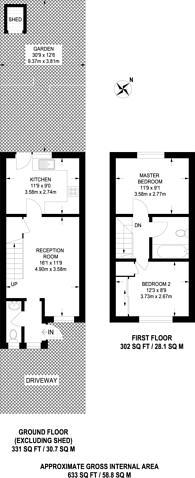 Large floorplan for Shepherds Walk, Dollis Hill, NW2