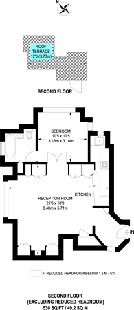 Large floorplan for Kidderpore Avenue, Hampstead, NW3