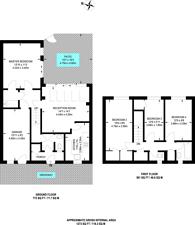 Large floorplan for Hidcote Gardens, Raynes Park, SW20