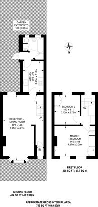 Large floorplan for Hughan Road, Stratford, E15