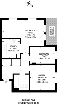 Large floorplan for Finchley Road, Child's Hill, NW11
