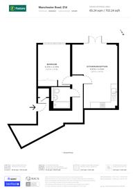 Large floorplan for Aspect House, Isle Of Dogs, E14