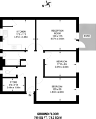 Large floorplan for Windmill Grove, Croydon, CR0
