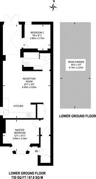 Large floorplan for Poets Road, Islington, N5