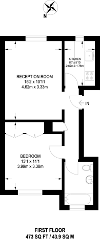 Large floorplan for Belgrave Gardens, St John's Wood, NW8