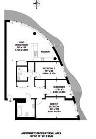 Large floorplan for Hoola Tower, Royal Docks, E16