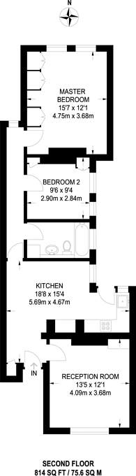 Large floorplan for Prince of Wales Drive, Battersea, SW11