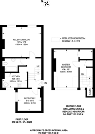 Large floorplan for Tadema Road, Chelsea, SW10