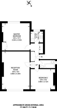Large floorplan for Belitha Villas, Islington, N1