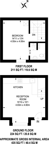 Large floorplan for Emma Lodge, Oakfield Road, Finchley, N3