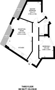 Large floorplan for Rowcross Street, South Bermondsey, SE1