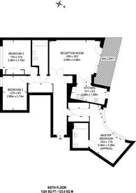Large floorplan for John Islip Street, Westminster, SW1P