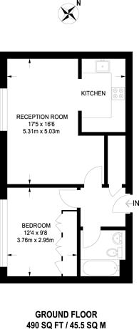 Large floorplan for Gowers Walk, Aldgate, E1