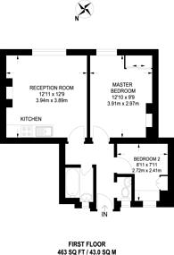 Large floorplan for Bolney Street, Oval, SW8
