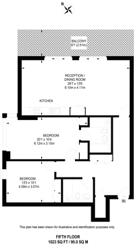Large floorplan for Eastfields Avenue, Wandsworth, SW18