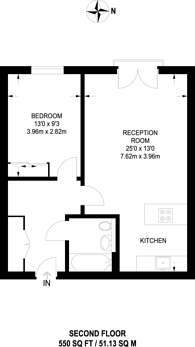 Large floorplan for Cold Harbour, Isle Of Dogs, E14