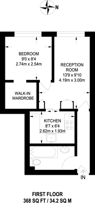 Large floorplan for Upper Street, Angel, N1
