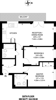Large floorplan for Agate Close, Hanger Hill, NW10