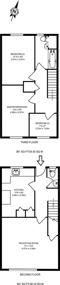 Large floorplan for Shirley Road, Stratford, E15