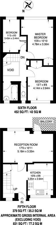 Large floorplan for Lupus Street, Westminster, SW1V