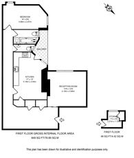 Large floorplan for Cromwell Crescent, Kensington, SW5