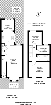 Large floorplan for Crowther Road, South Norwood, SE25