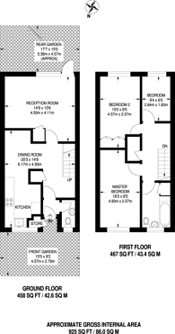 Large floorplan for Cornelia Street, Islington, N7
