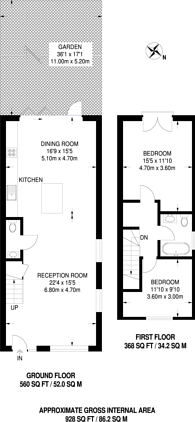 Large floorplan for Akerman Road, Surbiton, KT6