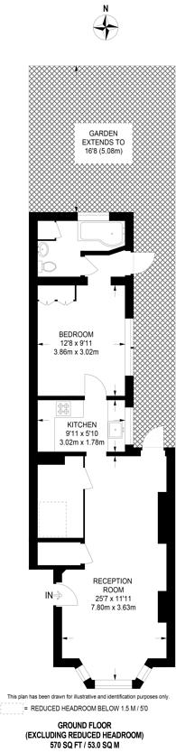 Large floorplan for Dryden Road, Wimbledon, SW19