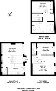 Large floorplan for Ensor Mews, South Kensington, SW7