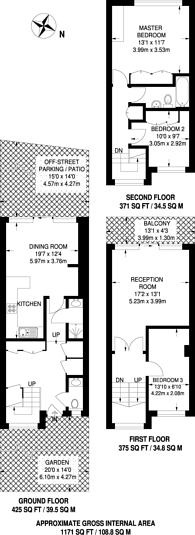 Large floorplan for Lower Ham Road, Kingston, KT2