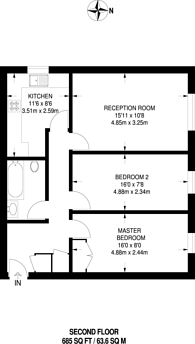 Large floorplan for Crown Dale, Crystal Palace, SE19