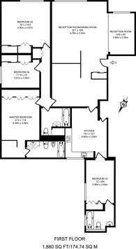 Large floorplan for Hill Street, Mayfair, W1J