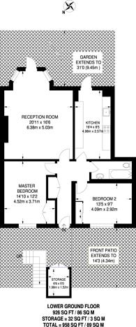 Large floorplan for Canonbury Lane, Canonbury, N1