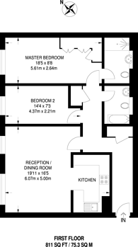 Large floorplan for Elverton Street, Westminster, SW1P