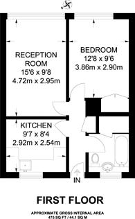 Large floorplan for Royston Road, Penge, SE20