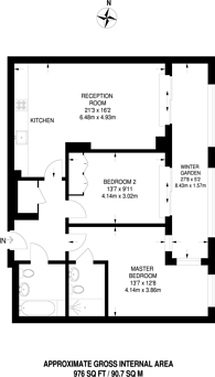 Large floorplan for Ealing Road, Brentford, TW8