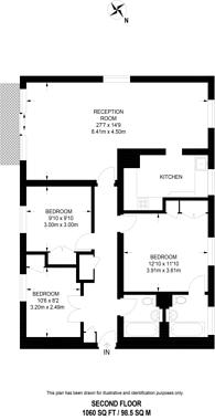 Large floorplan for Vicarage Gate, Kensington, W8
