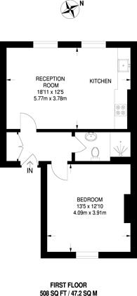 Large floorplan for Chippenham Road, Maida Hill, W9