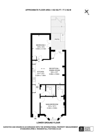 Large floorplan for Warwick Road, Earls Court, SW5