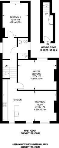 Large floorplan for Brockley Road, Brockley, SE4