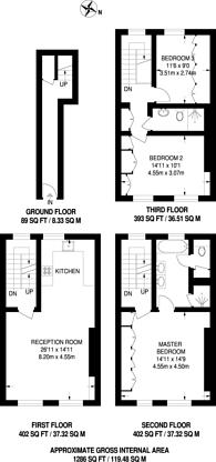 Large floorplan for New Quebec Street, Marylebone, W1H